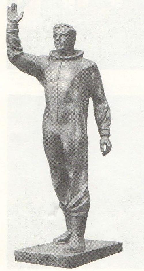 Soviet sculptor Yuri Chernov. Yuri Gagarin. 1975. Copper