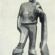 A fisherman with a net. 1966. Forged copper