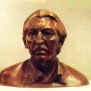 Cuban composer and conductor Enrique Gonzalez Mantichi. 1975. Forged copper