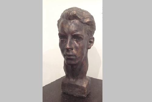 Elder brother Dmitry. 1951. Soviet sculptor Yuri Chernov