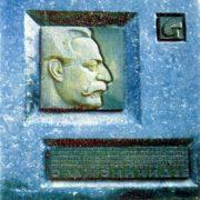 Memorial plaque of G.Ya. Ordzhonikidze. 1966. Bronze, granite