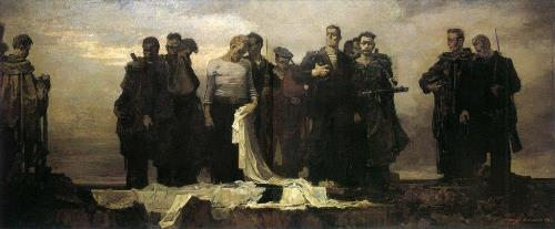 Oath of Baltic Fleet sailors 1946. Painting by Soviet artist Andrei Mylnikov (22 February, 1919 – 17 May, 2012)