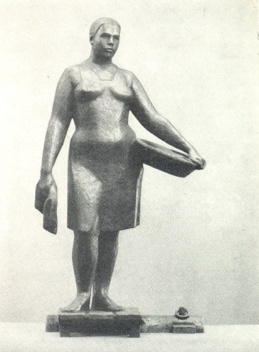 On the river. 1966. Bronze