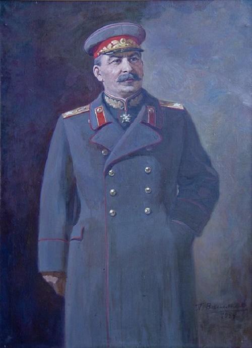 Portrait of Stalin. 1944. Soviet artist Pyotr Vasilyev