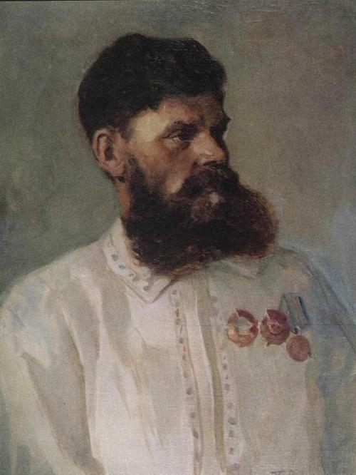 Portrait of partisan P. Krivonosov
