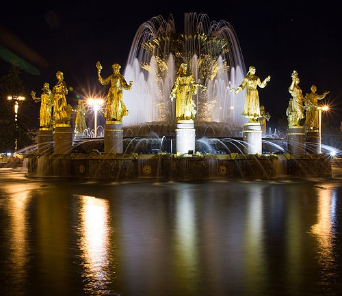 Fountain of Friendship of Peoples Mira Avenue, the All-Union Exhibition Center, Ostankino, the North-Eastern District, Moscow