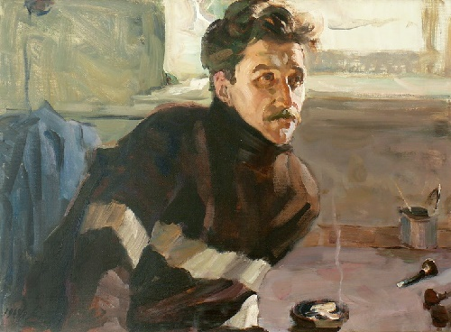 GM Lamanov. Portrait of VG Grokhovsky. 1969. Oil on canvas