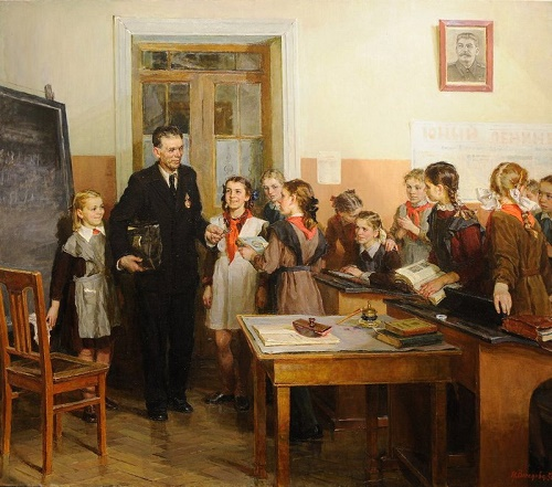 The award-winning teacher. Socialist realism painter Nina Veselova (18 January 1922 - 3 March 1960)