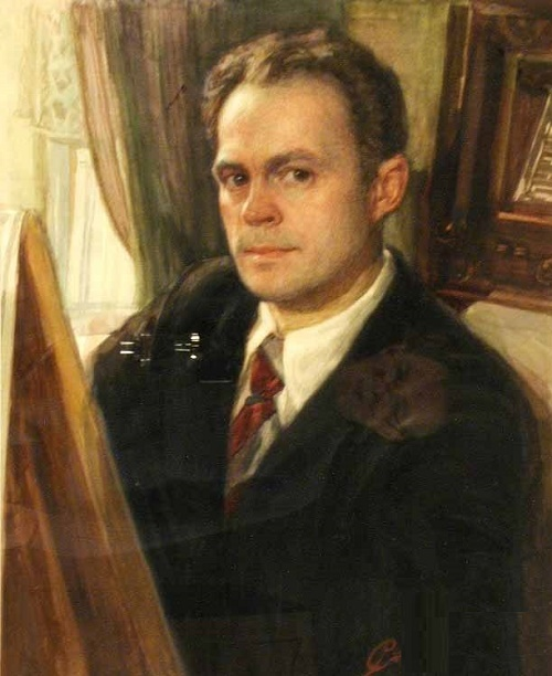 Self-portrait. Soviet Karelian artist Georgy Stronk 1910-2005