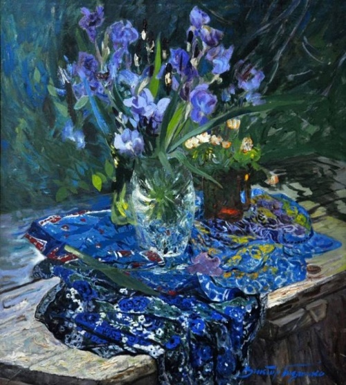 Still life with irises
