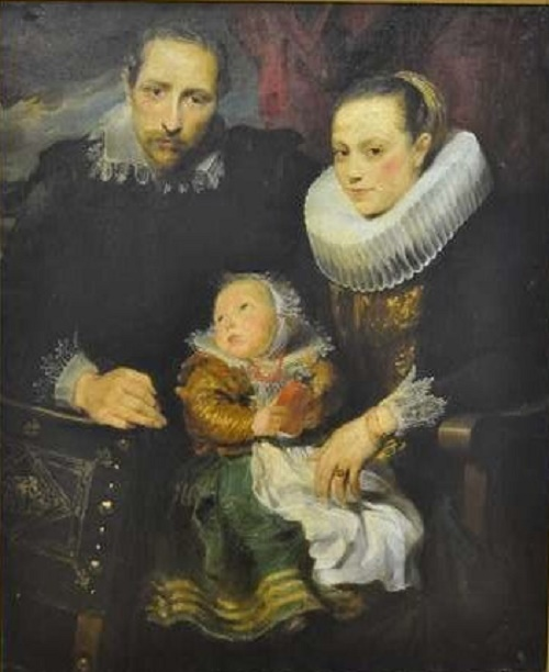 A copy of a painting by Van Dyck 'family portrait'