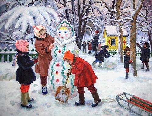 Snow Maiden. 1964. Soviet painter Elza Davidovna Khokhlovkina