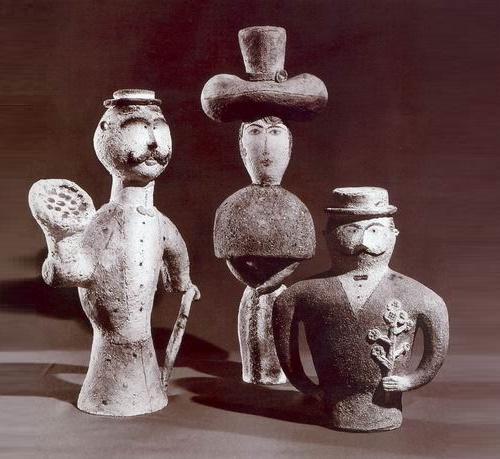 Escort. 1980. Pottery. The State Tretyakov Gallery