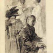 Illustration to 'Three sisters' by Anton Chekhov. 1958