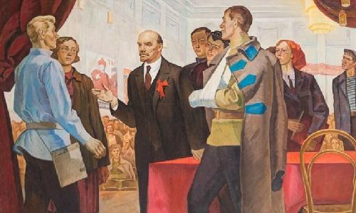 Lenin at the III congress of Komsomol, 1973