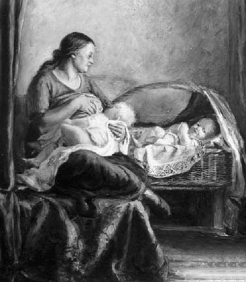 Motherhood (twins). 1938