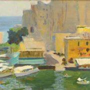 Naples. Canvas on cardboard. 1956