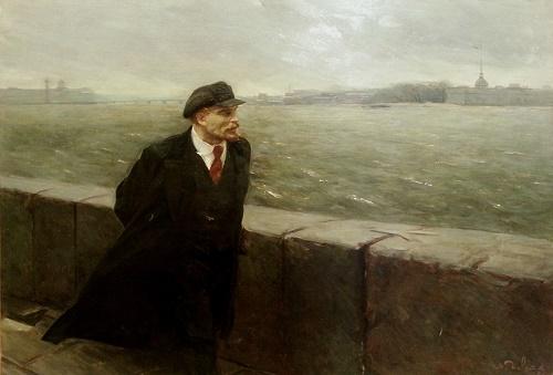 October wind. 1957. Soviet artist restorer Mikhail Devyatov