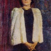 Portrait of Honored Actress of RSFSR Darya Vasilievna Zerkalova. 1947. Oil, canvas