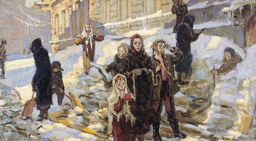 Soviet artist Pyotr Survived (Children of besieged Leningrad, WWII). 1961Petrovich Litvinsky (November 7, 1927 - July 8, 2009)