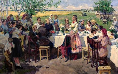 Village festival. 1950s