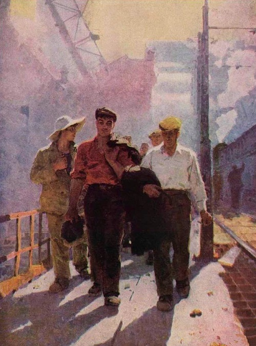 Working Morning. Soviet artist Mikhail Gavrilovich Belsky