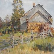 A house in the village. 1979. oil, canvas
