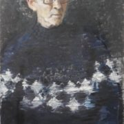 A man in a sweater. Oil, canvas