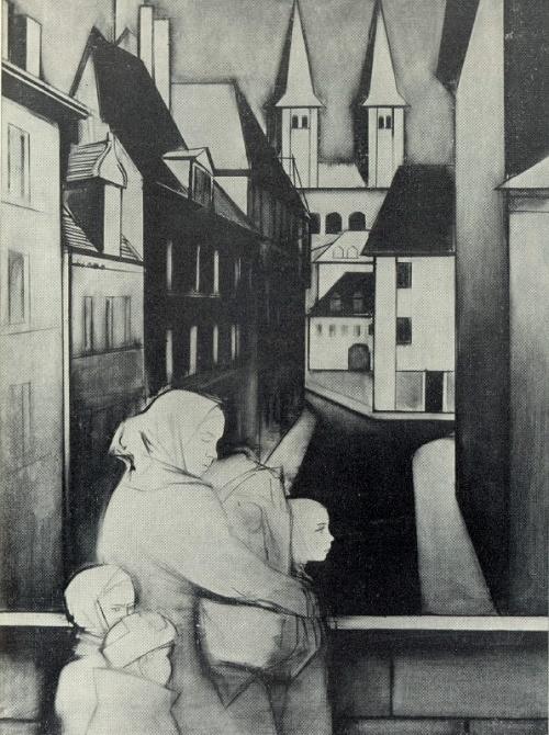 A. Tvardovsky. House at the road. Returning. 1967. Soviet artist Beniamin Basov (1933-2000)