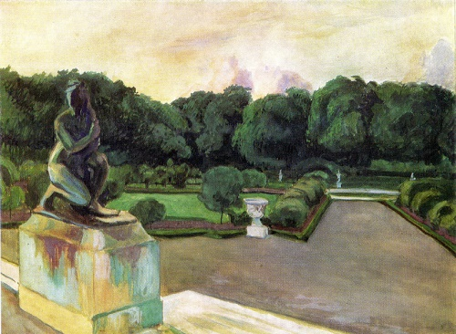 Alexander Benois. 1870-1960. Park at Versales. Gouache on paper