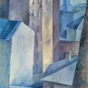 Alexander Osmiorkin. 1892-1953. Houses. Town. 1917. Oil on canvas