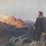 Alexander Pushkin in the North Caucasus. Painting by Pavel Zaron, co-author N. Kochetov