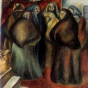 Before storm. 1968. Oil on canvas. Property of Ministry of culture of Azerbaijanian SSR