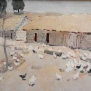 Bird farm in a collective farm Commintern of Sumy region. 1963. Oil on canvas