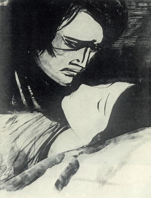 Bohemia (D. Puccini). For harpsichord. 1958. Soviet artist Beniamin Basov (1933-2000)