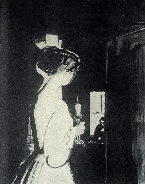 D. Puccini. Bohemia. For harpsichord. 1958. Soviet artist Beniamin Basov (1933-2000)