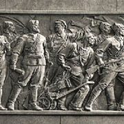 Detail of Kirov monument in Leningrad