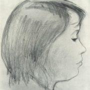 Girl in profile. 1964