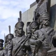 Heroes of 1812 war fragment of Kutuzov monument