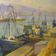 Khabarovsk. Fishers port. 1970