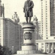 M.V. Lomonosov monument in Moscow. Bronze, granite. 1953