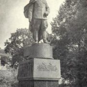Army General Chernyakhovsky, monument in Vilnius. Sculptor Nikolay Tomsky, Architect LG Golubovsky. Bronze, granite. 1950