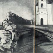 Prisoners of war. Illustration to 'The destiny of man' by Sholokhov. 1964