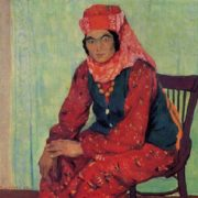 Rakhim Akhmedov. Born 1924. Female portrait. 1962. Oil on canvas
