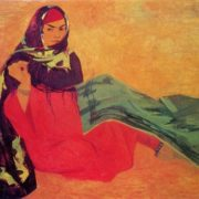 Ruzy Charyev. Born 1931. The bride. 1967. Tempera on canvas