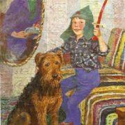 Self-portrait, son Sasha and Sandy. 1970s