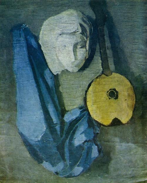 Still life with mask. 1934. Soviet artist Beniamin Basov 1933-2000