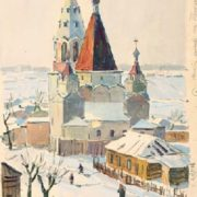 Trinity church in Moscow. 1945