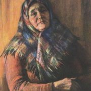Veteran of the collective farm labor Tatiana Varfolomeevna Mandrykina