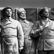 Worker, peasant and soldier. detail of monument